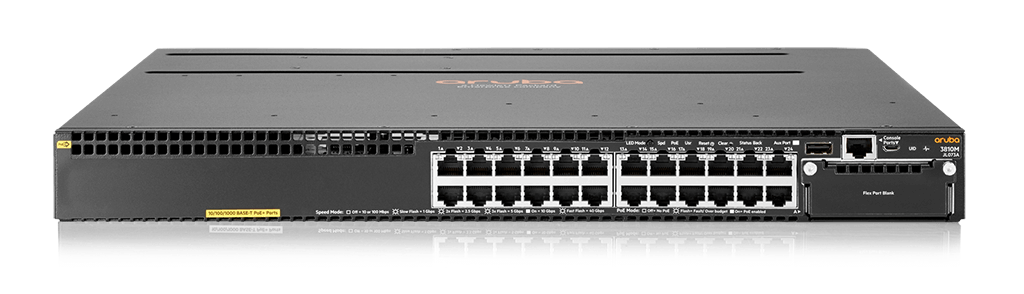 Aruba 3810M 24G PoE+ 1-slot Switch (JL073A)